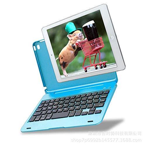 Funda para Teclado para iPad Mini teclados inalámbricos Bluetooth para iPad Mini 3/2-azul