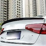 para A4L A3 Sedan A6L Spoiler de Maletero Trasero de Fibra de Carbono, modificación del automóvil, perforación Libre, Moda en Blanco y Negro,A4L-Black