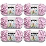Bernat Baby Blanket Twists-6/Pk-Pink, 6/Pk, Pink Twist 6 Pack