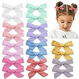 20 piezas de lazos para el pelo de las niñas de bebé, de lino, accesorios para el cabello para niños pequeños y bebés en pares (colores claros)
