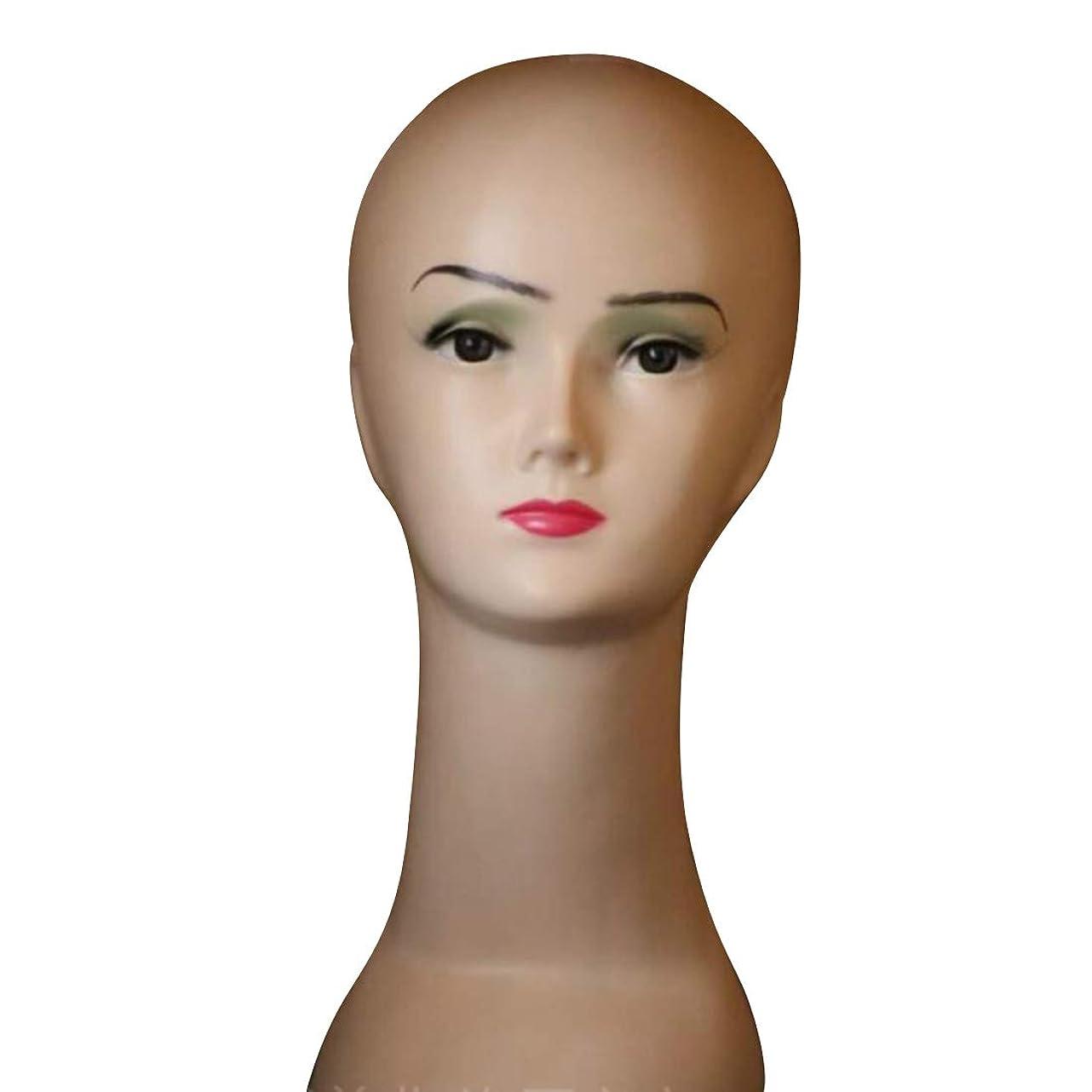 経度明らか参照する偽の開発は、マネキンの女性モデルのヘッドショーのかつら&キャップ - PVCヘッドモールドを埋めたことを示しています モデリングツール (色 : ブラウン)
