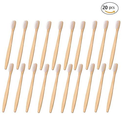 Cepillo de dientes de madera de bambú, respetuoso con el medio ambiente, hecho con carbón de bambú con cerdas suaves
