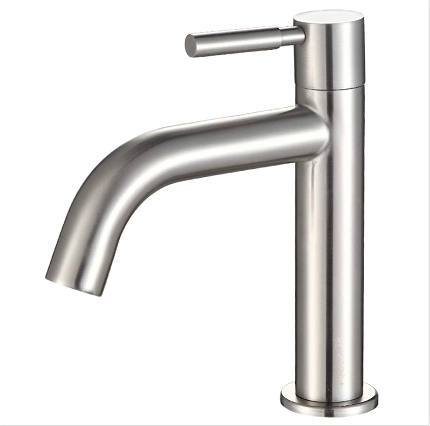 Kitchen Taps Faucet Modern Kitchen Sink Taps Stainless Steel304 Stainless Steel Single Cold Basin Faucet Single Hole