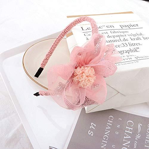 TSEINCE Bande de Cheveux Simple Mode Noeud Noeud C Gaze Brillante étoile Gaze Boule tête Fille-tête Bijoux A186-03