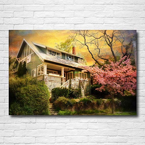 zuomo Casa Vintage Cuento de Hadas Papel Pintado Pintura Decorativa Lienzo Pared Arte Carteles e Impresiones para decoración del hogar 60x90cm sin Marco