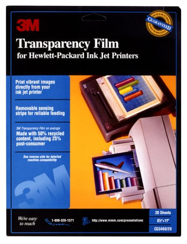 3M CG 3460 Inkjet Transparency Film