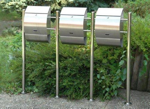 Edelstahl-Standbriefkasten Oscar 1er, 2er, 3er oder 4er (OSCAR 3er)
