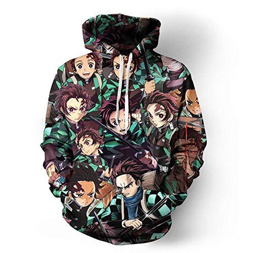 Fang Unisex 3D capuchon sweat pullover hoodie lange mouwen HoodHood Hood Big zakken anime-spel cosplay graven pullover capuchon hoodie 5XL B