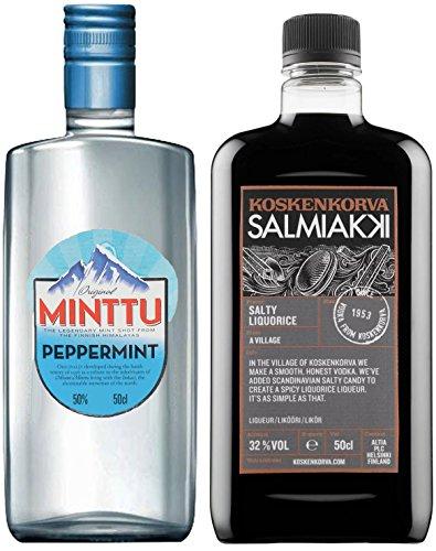 Koskenkorva Salmiakki (0,5l | 32% vol.) + Minttu Peppermint Original (0,5l | 50%vol.)