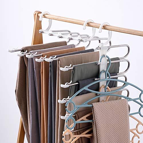 8 Pcs Space Saving Hangers Magic Hangers Metal Heavy Duty Hooks Closet 10 inch
