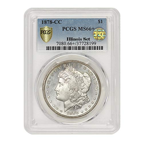 1878 CC American Silver Morgan Dollar MS-66+ PQ Approved Illinois Set by CoinFolio $1 MS66+ PCGS