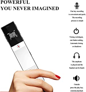 Digital Voice Recorder, 16GB Multi-Function, 1536Kbps High-Fidelity Recording, Mini Voice Recorder, Remote Recording with Voice Control, Suitable for Voice, Conference