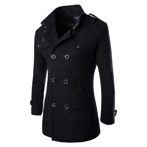 8bf339bf7b766 Vktech reg  Abrigo chaqueta de lana para hombres