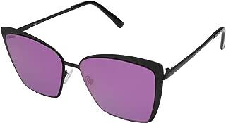 Cateye Sunglasses for Women Fashion Mirrored Lens Metal Frame SJ1086
