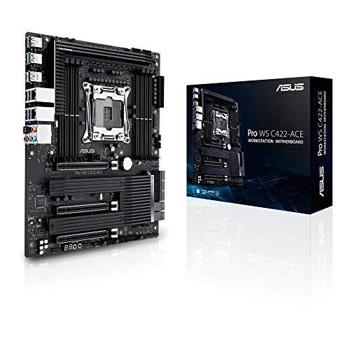 Asus Pro WS C422-ACE, procesadores Intel Xeon W, Placa Base ATX Workstation con 14 etapas de Potencia, Triple M.2, Doble U.2, Doble...
