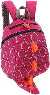 Children Kids Boys Girls Fashion Cute Cartoon 3D Dinosaur Shoulder School Bags New Anti Zhaozb (Color : Hot Pink)