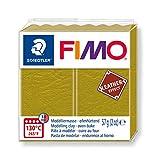 Staedtler- Fimo Leather-Effect Pasta per Modellare in Forno, Colore Oliva, 57 g, 8010-519 ST