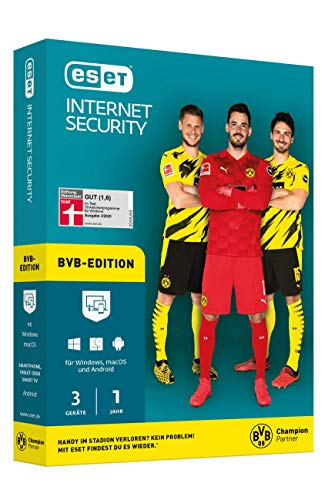 ESET Internet Security 2020 BVB Edition | 3 Geräte | 1 Jahr | Windows, macOS, Linux und Android | Download