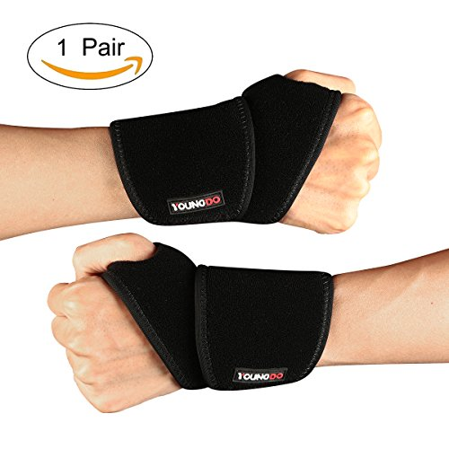 YOUNGDO 手首サポーター 手首保護 2枚組 腱鞘炎 痛み緩和 手首固定 左右手 怪我防止 手首太さの適用範囲:1...