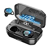 True Wireless Earbuds, Bluetooth 5.0 in-Ear TWS Stereo Headphones with 3300mAh Charging Case IPX7 Waterproof 125H Playtime Noise Cancelling Earphones Built-in Mic Premium Deep Bass for Sports