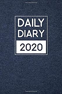 2020 Daily Diary: One page per day with month tabs, one year 365 day fully line and dated journal with Blue velvet cover (2020 One page per day daily diary)