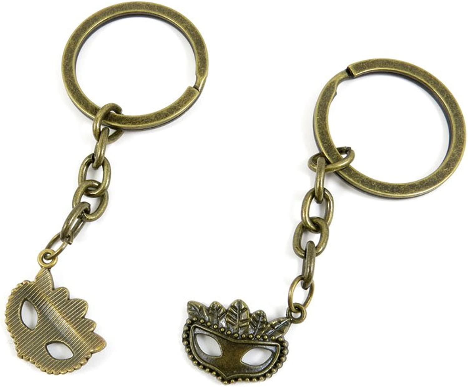 190 Pieces Fashion Jewelry Keyring Keychain Door Car Key Tag Ring Chain Supplier Supply Wholesale Bulk Lots O5WK8 Carnival Mask