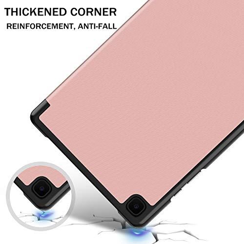 IVSO Hülle Kompatibel mit Samsung Galaxy Tab A7 10.4 2020, Schlank Slim Hülle Schutzhülle Hochwertiges PU mit Standfunktion, Samsung Galaxy Tab A7 T505/T500/T507 10.4 Zoll 2020, Rose Gold