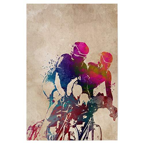 artboxONE Poster 30x20 cm Sport Cycling Art hochwertiger Design Kunstdruck - Bild Cycling Bicycle Cycler
