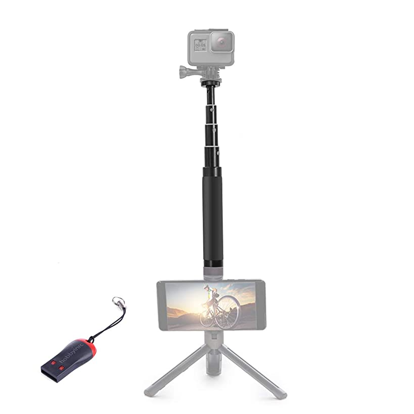 PGYTECH Hand Grip Tripod Extension Pole for DJI OSMO Action Camera,OSMO Pocket,GoPro Series Camera,with a USB Reader