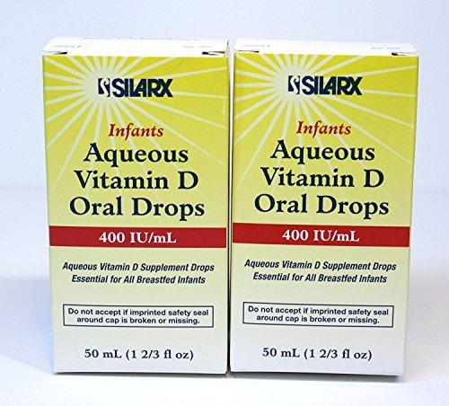 Infants Aqueous Vitamin D Oral Drops 400IU/ml 2-Pak (2 x 50ml)