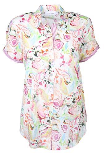 Just White Damen Bluse Größe 38 EU Mehrfarbig (bunt)