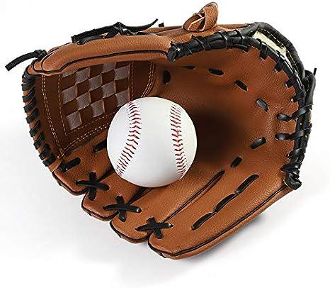 LQNB Au?En Sports 2 Farben Baseball Handschuh Sof Tball /üBungs Ausr/üStung Rechte Hand f/ür Erwachsene Mann Frau Zug 11,5 Zoll