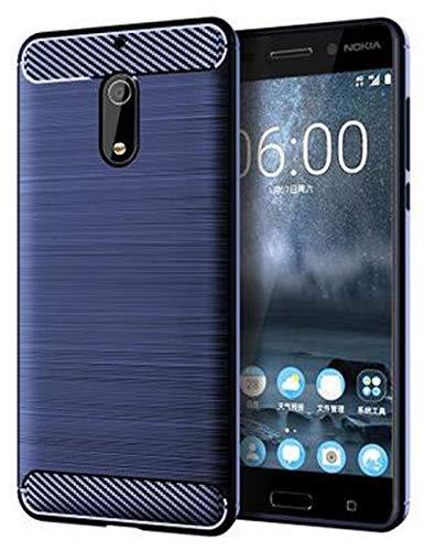 Nokia 6 Case, Dretal [Shock Resistant] Flexible Soft TPU Brushed Anti-Fingerprint Full-Body Protective Case Cover for Nokia 6 (5.5 ) (Navy)