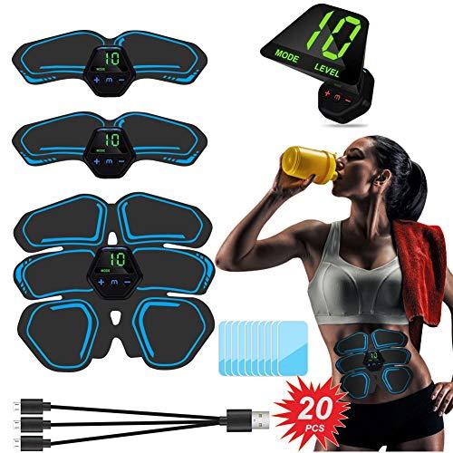 Letmetry Elettrostimolatore per Addominali,Elettrostimolatore Muscolare EMS Stimolatore Muscolare USB Ricaricabile ABS Trainer per Addome Braccio Gambe Vita, Uomo o Donna