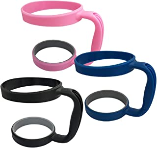 3 Pack 30oz Tumbler Handles, DanziX Mug Handle or Cup Holder Replacement- Black, Pink,Blue