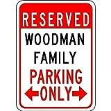 品質金属ティンサインインチ、ウッドマン家族駐車場レトロ鉄塗装金属ポスター警告プラークアート装飾用ガレージホームガーデンストアバーインチ