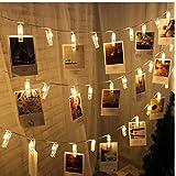 PiniceCore 1 M 10 Lámpara LED Clip Caja de batería Luz de Tira decoración de la Boda de luz para el hogar Baby Shower Decoración del Partido Garland Natal.B