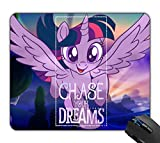 OTTIET Custom My Little Pony Twilight Chase Your Dreams Gaming Mouse Pad 9.5 X 7.9 Inch (240mmX200mmX2mm).Non-Slip Thick Rubber Large Mousepad.