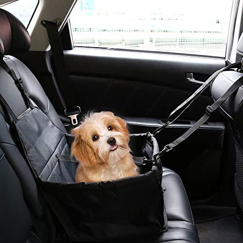 Slopow Seggiolino Auto per Cane Coprisedile per Cani Gatto Pet Animale Borsa Anteriore Singolo Coperta Telo per Proteggere Sedile di Automobile Impermeabile (Nero)