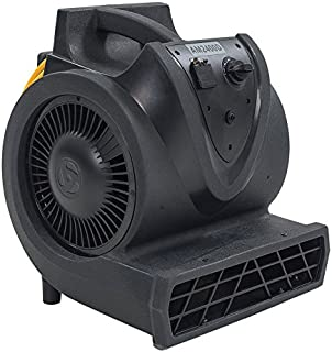Viper Cleaning Equipment 50000390 AM2400D Air Mover, 120V, 60 Hz, 3 Motor Speeds, 1/3 hp Motor, Roto-Mold Housing, 21' Power Cord, 2000, 2200, 2400 CFM Airflow