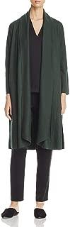 Eileen Fisher Womens Wool Long Jacket