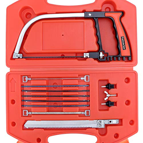 WiMas 13PCS Handsägen Set, Multifunktionssäge Hacksäge, Metallsäge Fliesensäge für Kunststoff, Glas, Fliesen, Holz