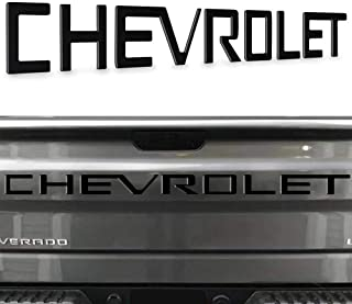 Tailgate Insert Letters -3D Raised Tailgate Letters Compatible with 2019 2020 Silverado Models -(Black)