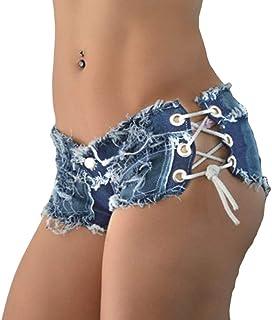 WanYangg Denim Skinny Jeans da Donna Fori Pantaloncini Estate Shorts Incantanti Vita Bassa Elasticizzato Butt Lift Super M...