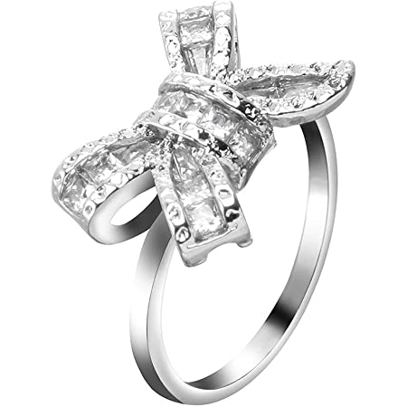 Diamond Zircon Spinning Engagement Ring in Sterling Silver For Woman Gift For Her