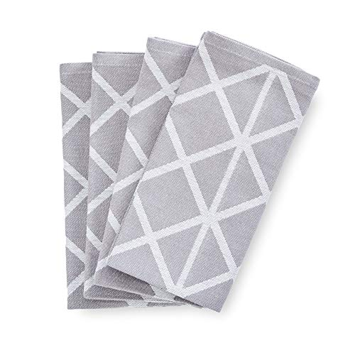 søstre & brødre 4er Set Geschirrtücher Küchentücher im modernen Streifen-Design | Made IN EU | 100% Baumwolle - ÖKO-TEX Standard 100 | 50 x 70 cm Anthrazit