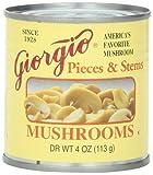 Giorgio Mushrooms Pieces and Stem, 4 Ounce, 12 Count