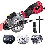 Mini Circular Saw, Meterk 750W 3500RPM Compact Circular Saw with Laser Electric Saw