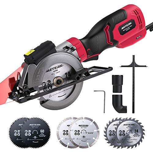 Mini Circular Saw, Meterk 750W 3500RPM Compact Circular Saw...
