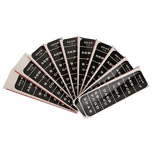 Handbuch für Instrumentenzubehör Label Black Blue Griffboard Guide, Handbuch für Finger Chart Notes,(BC04 1/8 black)
